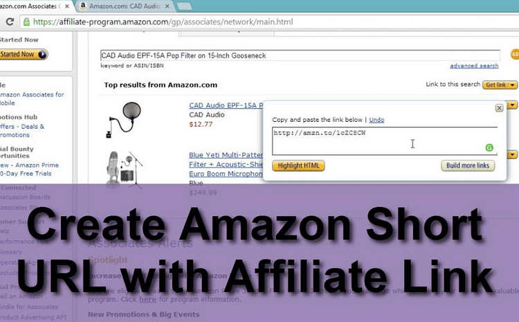 Amazon Affiliate Link Short